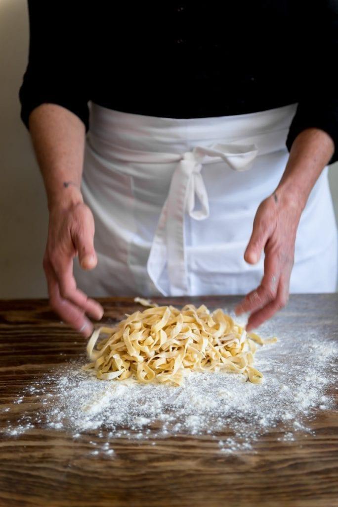Pasta making Italian restaurant Tanti Baci Inbal Cabiri