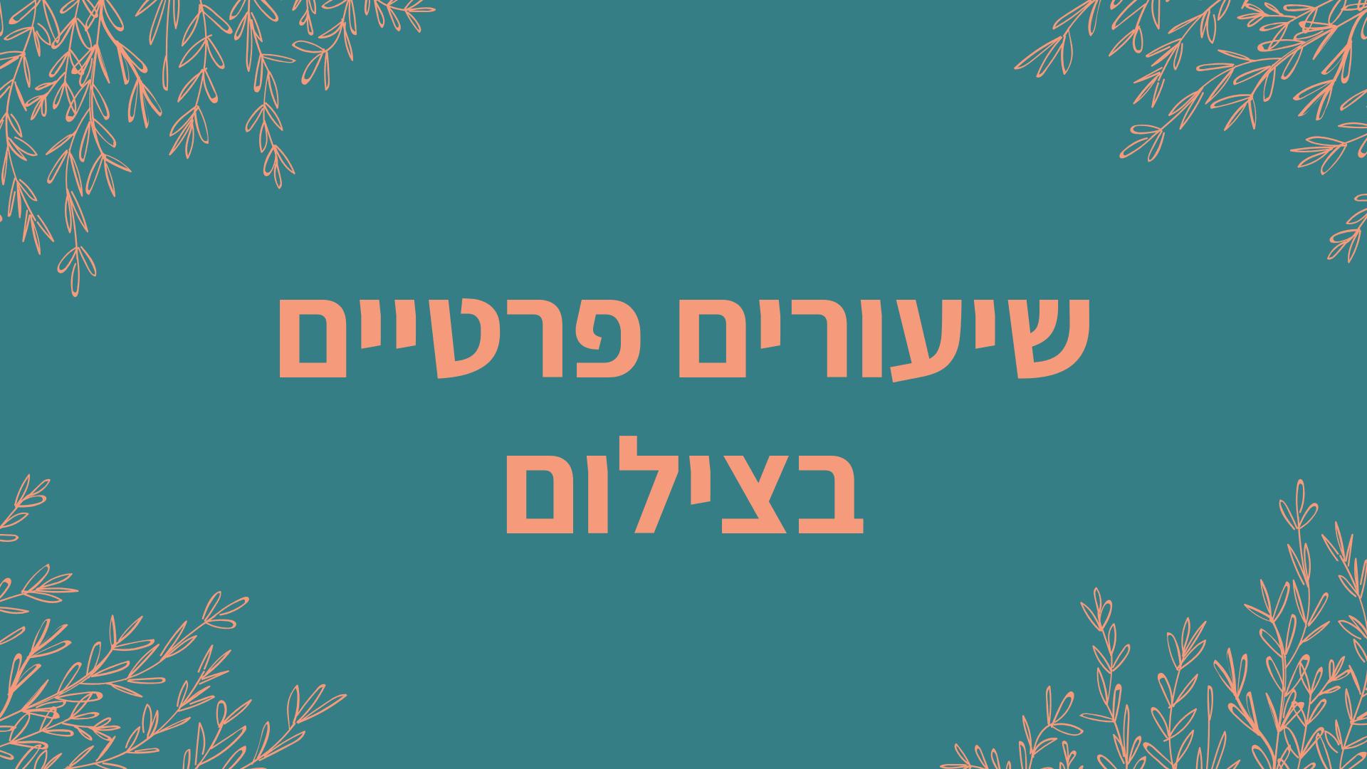 באנר שיעורים פרטיים עברית
