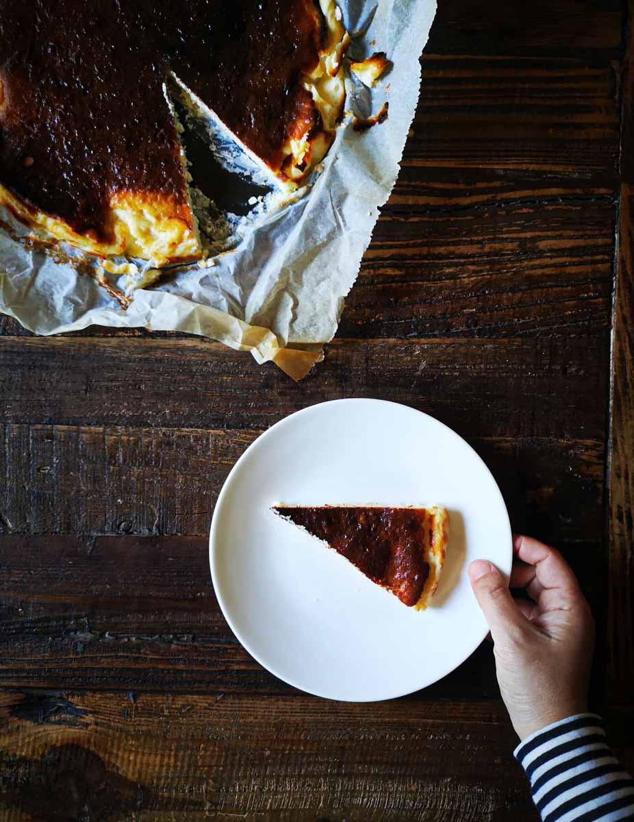 עוגת גבינה באסקית לה וינייה ענבל כבירי