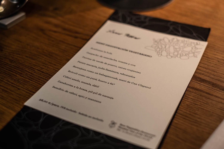 מסעדת חבייר פליסייה סלואו פוד בברצלונה ענבל כבירי התפריט